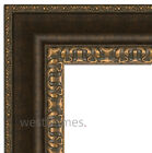 """West Frames Vienne Antique Black Brown and Gold Finish Picture Frame 2 3/8"""""""