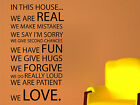 In This House Decorative Wall Art Sticker Text 3 Sizes 30 Colours