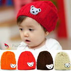 Baby Girl's Boy's Cute Bear Braid Style Beanie Winter Hat Cap 4 Colour Available