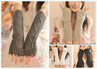Lady Warm Fingerless Mitten Fingerless Gloves Knitting Wool Wrist Hand Arm Glove