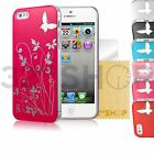 NEW HARD BUTTERFLY SERIES CASE COVER FITS IPHONE 5 5S FREE SCREEN PROTECTOR