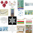 CHRISTMAS XMAS PARTY HANGING SNOWFLAKE SWIRLS STRINGS CEILING DECORATIONS ETC