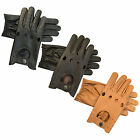 TOP QUALITY COW NAPPA SOFT PRIME LEATHER MEN'S DRIVING GLOVES UNLINED 510