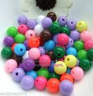 Mix Color Round Acrylic Plastic Spacer Loose Beads 8mm 10mm 12mm BC090