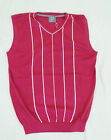 New Ian Poulter Maraschino Cherry Red Golf Sweater Vest Men's Size Small-Large