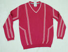 New Ian Poulter Designs Maraschino Cherry Red Golf V-Neck Sweater Men's S-L