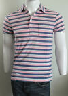 Polo Ralph Lauren Men Pink striped Jersey custom fit  polo T-shirt SIZE S or M