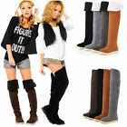 Womens Winter Warm Fashion Two-Way Over The Knee Boots Shoes,6 Sizes&4 Colors