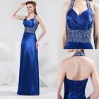 Bead Halter Wedding Bridemaids Formal Ball Gown Lady Cocktail Prom Party Dress