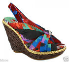 IRREGULAR CHOICE AMY LASAGNA SLING BACK WEDGE HEELS SANDALS SHOES SIZE 2-10 NEW