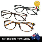 Clear Lens Reading Glasses Frame Square Fashion Men Women Black Brown Metal Arms