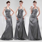 2013 Long Halter Formal Bridesmaid Gowns Prom Party /Cocktail Ball Evening Dress