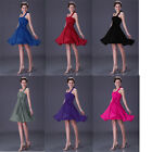 Short Halter Sexy Formal Prom Party Gown Homecoming Ball Formal Bridesmaid Dress