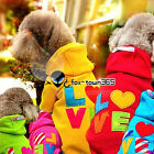 Warm Autumn/Winter Letter Love Pets Puppy Dog Clothes Coat hoodie Jumper Outwear