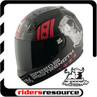 Speed & Strength SS700 Dogs Of War Street Motorcycle Helmet Matte Black Red