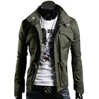 New Stock Mens Slim Fit Hoodies Military Style Jackets Coats Tops Outwear Hoody