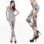 Lady Casual Wild Hot Sexy Cute Cats Printing Art Design Skinny Tights Leggings