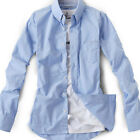New model series for Mens casual Dress 2Button oxford pocket Light Blue shirts