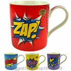 NEW Super Hero Pop ART Fine China MUG/CUP Gift Boxed Present Comic ZAP POW WHAAM