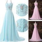 Chic Womens Bridesmaid Wedding Ball Gown Chiffon Prom Party Long Evening Dresses