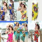 Sexy Woman's Bohemian Flower Floral Backless Straps Summer Beach Long Sun Dress