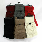 Women Winter Warm Knitted Wool Fingerless Gloves with Flip 5 Colors Available