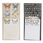 Vintage Style Magnetic Fridge Shopping List / Memo Note Pads & Pencil