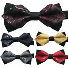 Yibei Ties Jacquard Woven Paisley Bowtie wedding Adult Adjustable Tuxedo Bow Tie