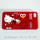 Hello Kitty x Elmo Sesame Street crossover Hard Case for Apple iPhone