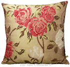 Designers Guild Arabella Designer Fabric Silk Pink Gold Cushion Pillow Cover