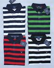 Gant Men Striped Polo Shirt Size S, M, L, XL Red Green White Navy Blue Black New