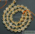 """Aaa Natural Citrine Gemstone Round Spacer Loose Beads 4mm 6mm 8mm 10mm 12mm 15"""""""
