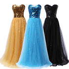 Stunning Sequins Bridesmaid/Evening/Formal/Ball gown/Party/Prom Dress Long 6-20