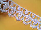 """~NEW~ SUPERB WHITE VENISE/GUIPURE 2"""" wide Bride/Sewing/Crafts"""