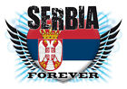 Brand NEW Printed T-SHIRT Quality SERBIA FOREVER Flag, All Sizes, All Colours