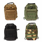 Men Shoulder Rucksack Canvas Backpack Outdoor Sport Camping Hiking Trekking Bag