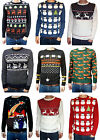Jumper Christmas Snowmen Santa Clause Retro Vtg 80's Ugly Fairisle Kitsch