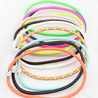 New fashion jewelry Braided leather Punk Magnetic Rhinestone Buckle necklace