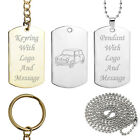 Personalised 60's Classic Mini Key Ring or Dog Tag Pendant Birthday Present Gift