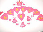 Edible Letters Name Princess Heart Cupcake / Cake Decorations Sugar Toppers
