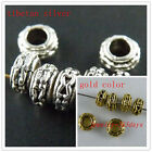 100pcs Silver/Gold Color Bail Style Spacer Beads 7x4mm 928
