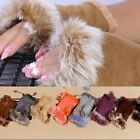 Ladies Womens Girls Winter Faux Fur Fleece Warm Half Fingerless Gloves New