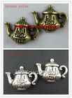 30 Silver/Bronze Color Teapot Charms 19x14.5mm B309-10268 F49