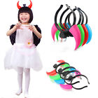 Hot Party Multi Color Cosplay Xmas LED Light Glowing Ox Horn Hairband Hair Clasp