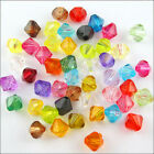 Random Acrylic Plastic Lucite Bicone Spacer Beads 5mm 6mm 8mm G4-G6