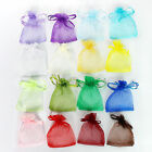 """16 Colors Beautiful Organza Jewelry Wedding Gift Pouch Bags New 7x9cm 2.7x3.5"""" Q"""
