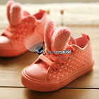 2017 Spring Autumn Baby Kids Child Girl Junior Rabbit Ear Polka Dot CANVAS Shoes