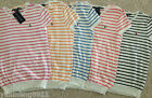 NWT Ralph Lauren women t-shirt shirt pink blue white navy pima cotton sweater