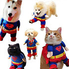 Superman Pet Dog Cat Puppy Cotton Clothes Costume Fancy Dress Suit XS/S/M/L/XL