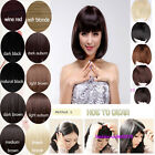 Any New Colors Clip In On Bangs Fringe Hair Piece As Human Quality Salon Finest